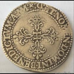 Franc au col plat Henri III 1578 D Lyon