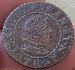 Double tournois Louis XIII 1627 R Villen...