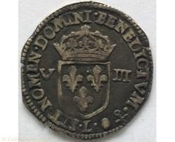 Huitième d'écu Louis XIV 1645 L Bayonne