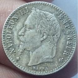 50 cent Napoléon III 1866 BB tête laurée...