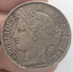 5 francs Cérès sans légende 1870 A Paris