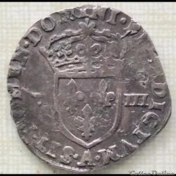 Huitième  d'écu Charles X 1591 A Paris
