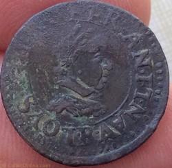 Double tournois Louis XIII 1617 R Villen...