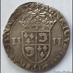 Quart d'écu du dauphiné 1604 Grenoble