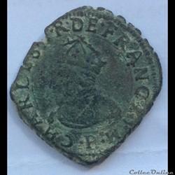 Double tournois Charles X 1593 P Dijon