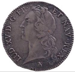 Écu au bandeau Louis XV 1766 M Toulouse