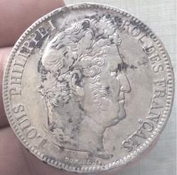 5 francs tête laurée Louis-Philippe I 18...