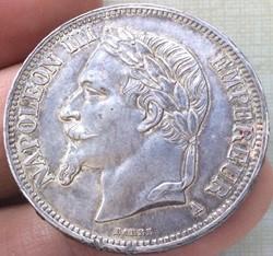 5 francs Napoléon III 1868 A Paris tête ...