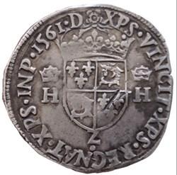 Teston du Dauphiné Charles 9 au nom de H...