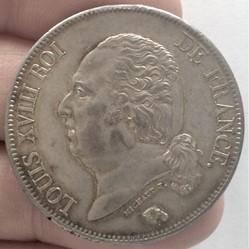5 francs Louis XVIII buste nu 1822 A Par...
