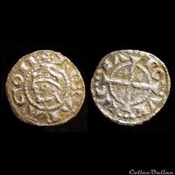 Obole d'Alphonse II d'Aragon (comté d'Aragon) Compte de Provence