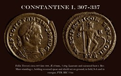 RCV 16002 Constantine the Great AE Folli...