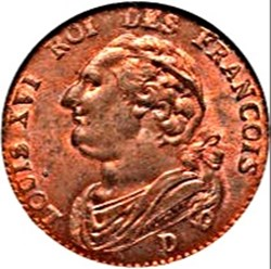 Louis XVI - 12 deniers au bandeau