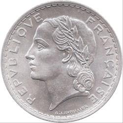 5 francs Lavrillier, Aluminium