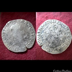 FRANC AU COL PLAT HENRI III 1576 NANTES