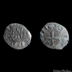 DENIER CHARLES DE BLOIS 1341-1364 NANTES