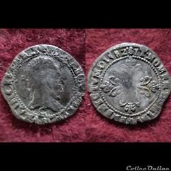 QUART DE FRANC HENRI III 1582 SAINT LO