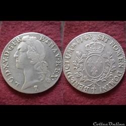 ECUS LOUIS XV 1743 NANTES