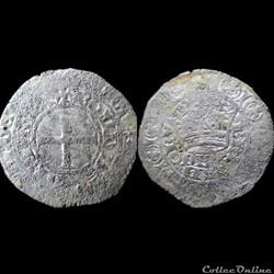 GROS BLANC A LA COURONNE CHARLES DE BLOIS 1356