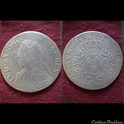 ECUS LOUIS XV 1738 AIX EN PROVENCE