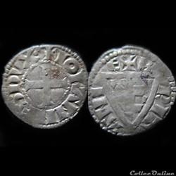 DENIER JEAN I LE ROUX 1266-1286