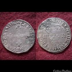 QUART ECUS CHARLES X 1596 DINAN