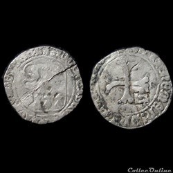 BLANC A LA TARGE FRANCOIS II DE BRETAGNE RENNES CONTREMARQUE MI 1488