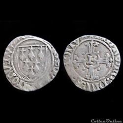 DEMI-GROS A L'ECUS FRANCOIS II 1477-1483 RENNES