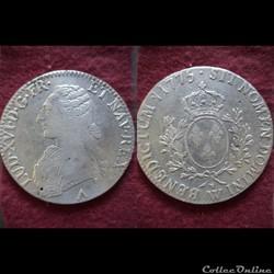 ECUS LOUIS XV 1775 LILLE