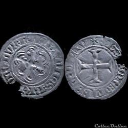 BLANC A L'HEXALOBE JEAN V 1421-1442 FOUGERES