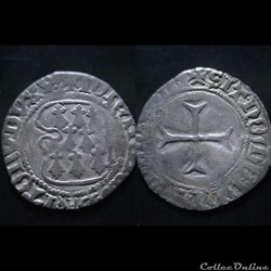 BLANC A LA TARGE JEAN V DE BRETAGNE 1399-1442 VANNES