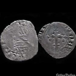 DOUBLE TOURNOIS CHARLES DE BLOIS 1361