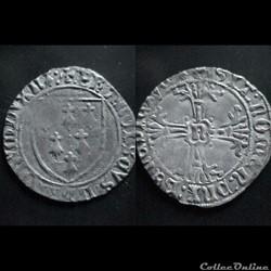 GROS A L'ECUS FRANCOIS II DE BRETAGNE 1483-1486  NANTES
