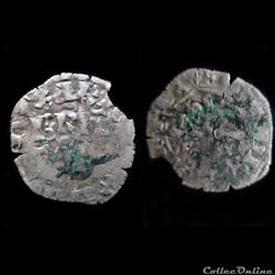 DOUBLE DENIER CHARLES DE BLOIS 1350 SAIN...