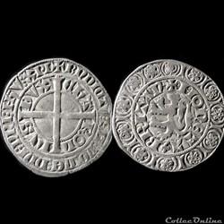 GROS AU LION CHARLES DE BLOIS 1351-1353