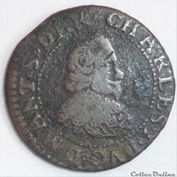 Charles 1er de Gonzague (1601-1637). Double tournois