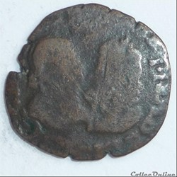 Albert et Isabelle (1598-1621). Double denier