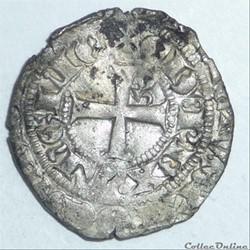Edouard III (1327-1362). Blanc au léopar...
