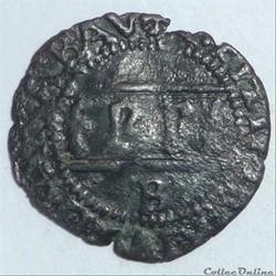 """Emmanuel-Philibert dit """"tête de fer""""(1553-1580). Quart de gros"""