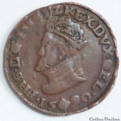 Philippe II d' Espagne (1555-1598) . Lia...