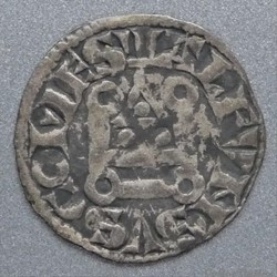 Alphonse de Poitiers (1241-1271). Denier