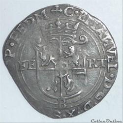 Charles-Emmanuel 1er (1580-1630). Blanc de quatre sols