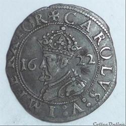 Charles Quint, monnayage posthume (1559-1675). Carolus 6ème type