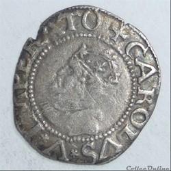Charles Quint (1537-1558). Demi-carolus 2ème type