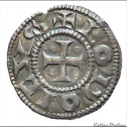 Immobilisation du type de Louis IV  (fin Xème et XIème siècle). Denier