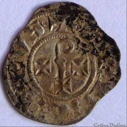 Guéraud IV de Barasc et Barthélémy le Roux(1238-1273). Obole