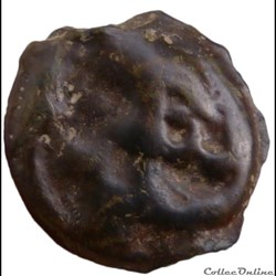 monnaie antique gauloise serie dt230 potin au guerrier courant ou au danseur