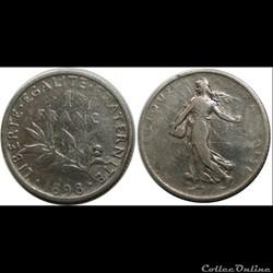1 franc Semeuse 1899