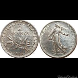 2 francs Semeuse 1916