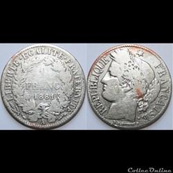 1 franc Cérès 1881 A